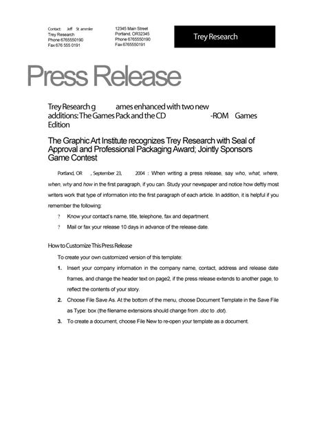 47 Free Press Release Format Templates Exles Sles Free Template Downloads Free Sle Press Release Template