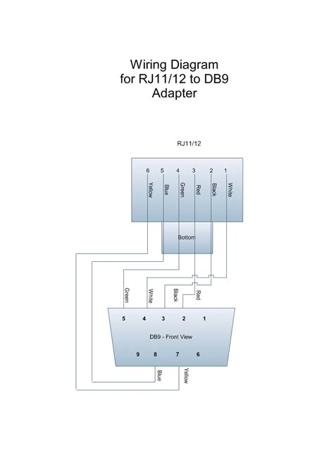 rj11 to db9 wiring diagram wiring diagram schemes
