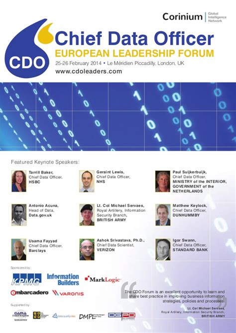 Officer Forum by Chief Data Officer Forum Global Summits