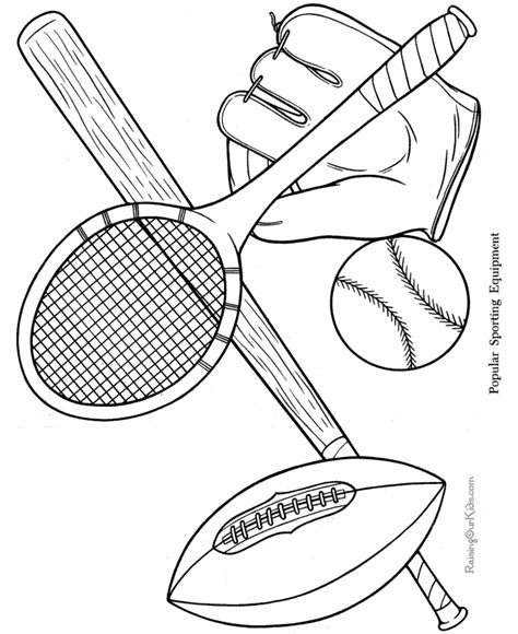 Sports Printable Coloring Pages sports coloring pages