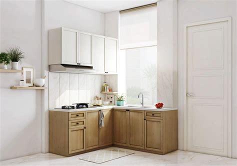 kitchen set minimalis modern bergaya korea  kabinet