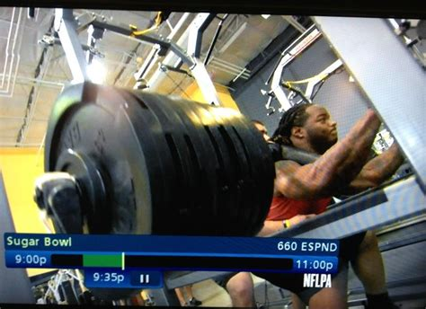 trent richardson bench trent richardson front squats 585 pounds