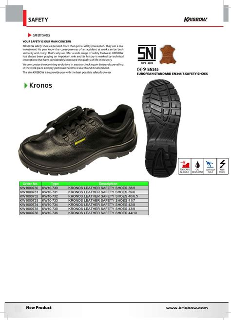 kronos krisbow safety shoes krisbowindonesiapt