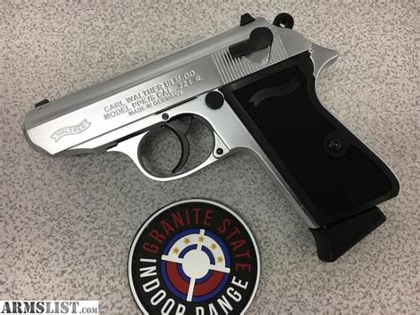 Walther Ppk S 22lr Nickel armslist for sale walther ppk s 22lr nickel plated like