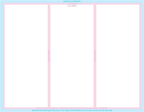 free three fold brochure template free printable tri fold brochure templates