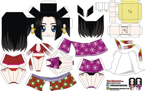 Papercraft Animation - boa hancock joey s chibi 045 by eljoeydesigns on