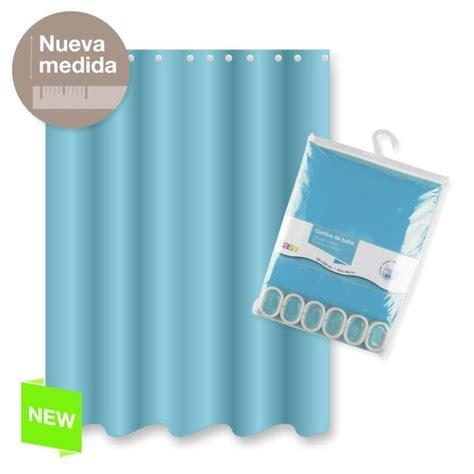 cortinas de poliester cortina ba 241 o poliester azul color basica 180x200 cm