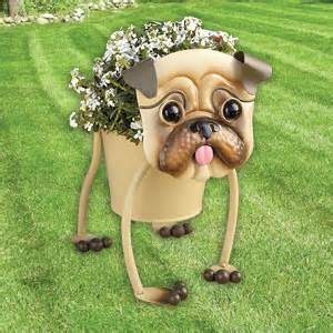 themed pug planter for indoors or outdoors unique