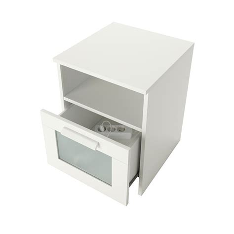 White Bedside Drawers Ikea Brimnes Bedside Table White 39x41 Cm Ikea