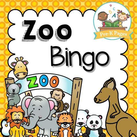 printable zoo animal bingo cards zoo bingo game pre k pages