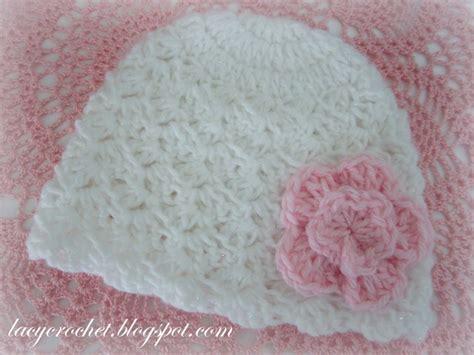 pattern crochet baby hat white newborn hat