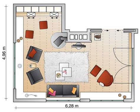 Interior Design Room Layout Planner | sliding book shelves for living room makeover space