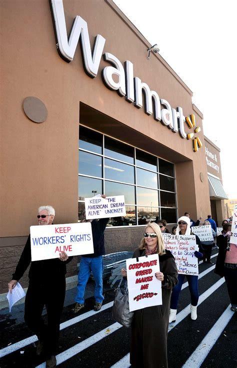at walmart black friday gains union protests