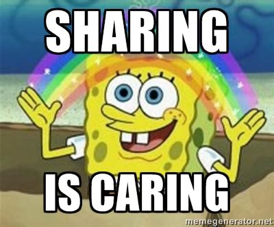 Sharing Meme - sharing is caring pictures to pin on pinterest pinsdaddy