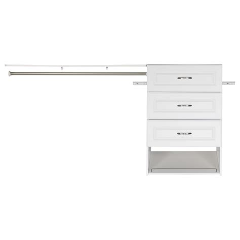 Kitchen Cabinet Organizers Home Depot by Shop Estate By Rsi 9 5 Ft X 3 Ft White Wood Closet Kit At