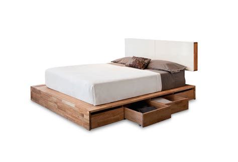 wood bed frames with headboard solid wood platform bed frame design selections homesfeed