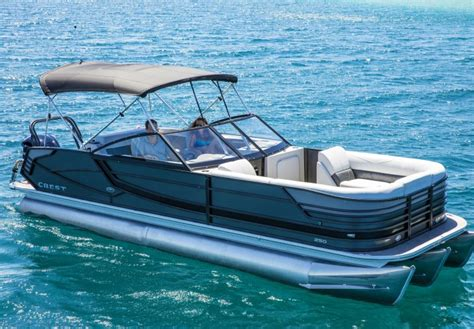 pontoon boat with windshield crest continental pontoon boat fully integrated walk