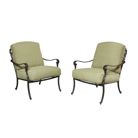 patio lounge chairs home depot hton bay edington cast back pair of patio lounge chairs