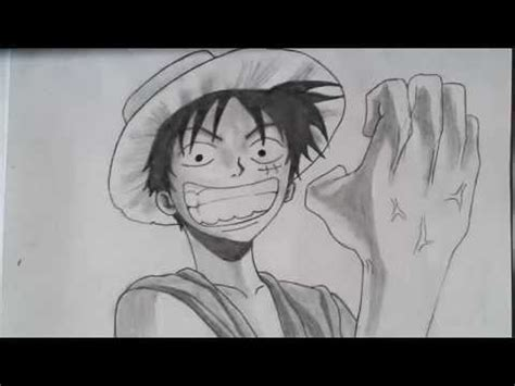 Monkey D Luffy Pencil Anime drawing monkey d luffy from one pencil モンキー d