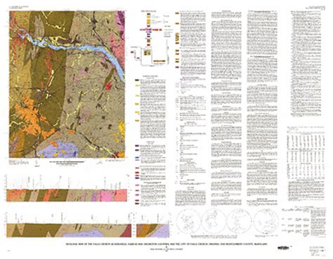 maryland bedrock map geologic map of the falls church quadrangle fairfax and