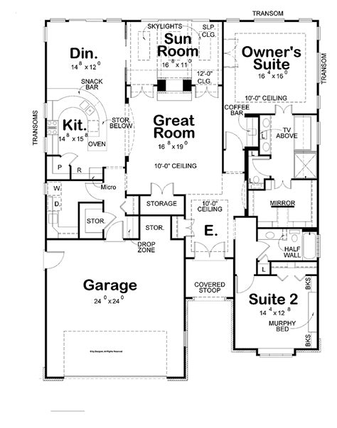 Floor Plans With Large Kitchens by Small House Plans Big Kitchens Cottage House Plans