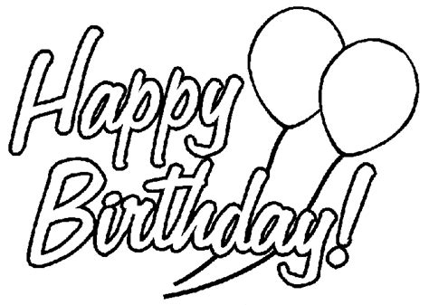 Happy Birthday Coloring Pages Free Printable Pictures Happy Birthday Color Pages