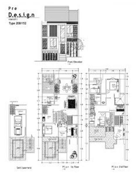desain rumah 8 x 12 contoh denah desain rumah 2 lantai type 200 home pinterest