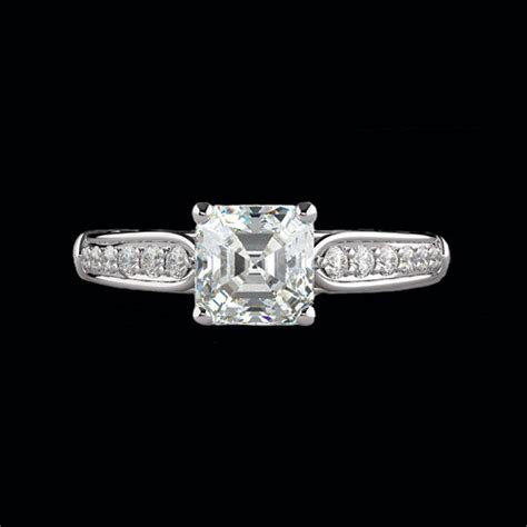 square center engagement ring