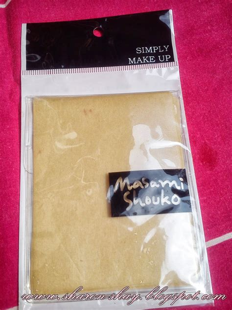 Removing Absorbing Paper Kertas Minyak shay review masami shouko blotting paper
