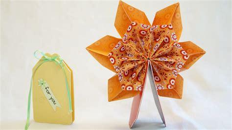 Mit Origami - mini pop up karte 360 176 mit origami fleurogami blume pop