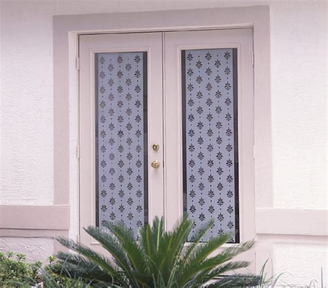 How To Cover A Glass Front Door Decorating One Light Glass Entry Doors Decorative Window