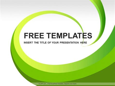 powerpoint template design free green leaves abstract ppt design free daily