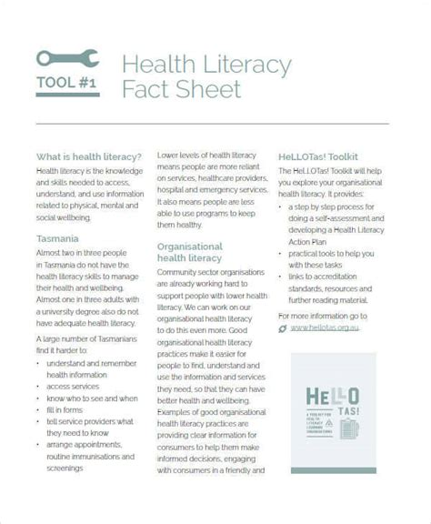 health fact sheet template 37 sle fact sheets
