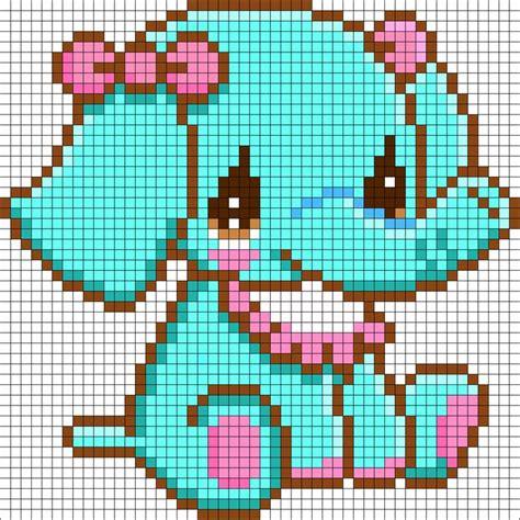 sitting elephant perler bead pattern bead sprites