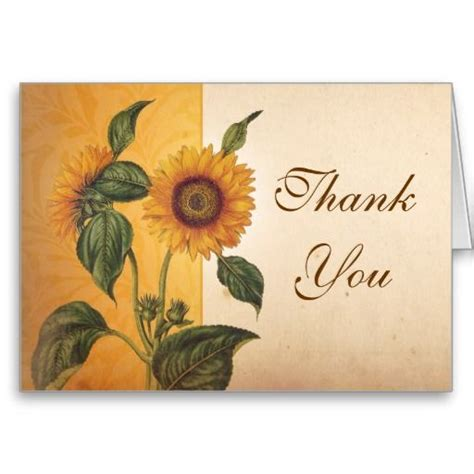 beautiful thank you cards beautiful sunflower vintage thank you cards