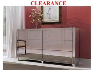 clearance mirrored 6 drawer dresser dressers mirrored