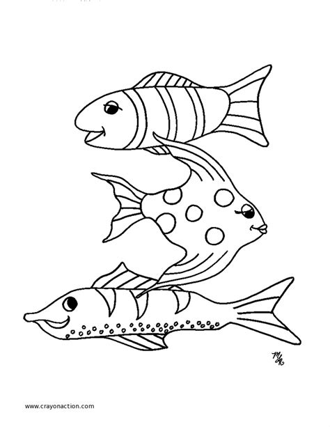 Free Printable Fish Coloring Pages Fish Coloring Pages To Print