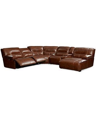 leather power reclining sectional sofa with chaise beckett 6 pc leather sectional sofa with chaise with 2