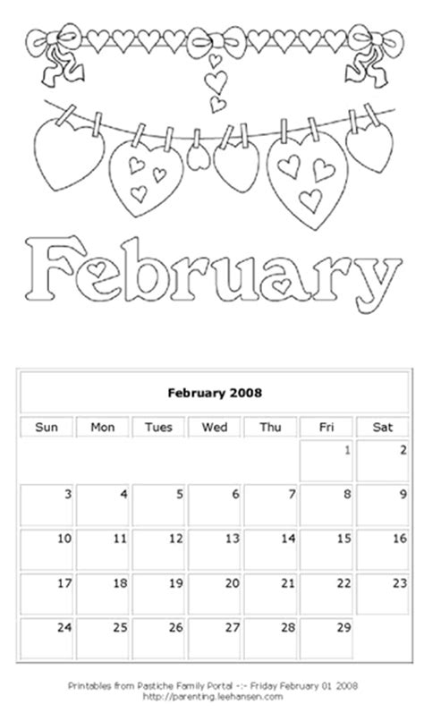 February 2008 Calendar Free Printables For Designers And Crafts