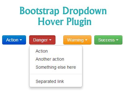 bootstrap hover tutorial bootstrap dropdown on hover plugin jquery plugins
