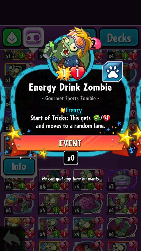 Pvz Heroes Card Template by Energy Drink Gallery Plants Vs Zombies Wiki