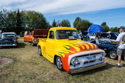 street feature tom caseys bright yellow  ford custom