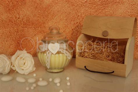 bomboniere candela bomboniera matrimonio candela profumata vetro rigato renoir