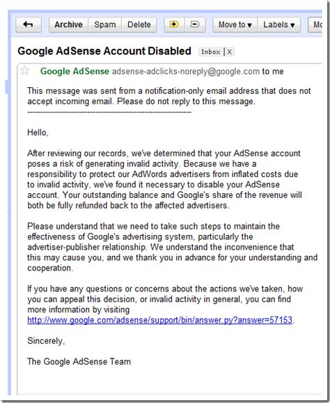 adsense disabled why google adsense is not liable beebom