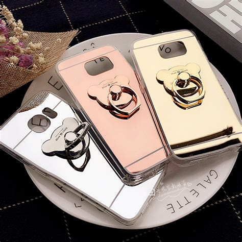 Ring Stand Gambar Timbul Samsung A3 2016 A5 2016 Grand G313 aliexpress buy mirror covers for samsung galaxy s8 s7 s6 edge plus a3 a5 a7 a8 a9 j3 j5 j7