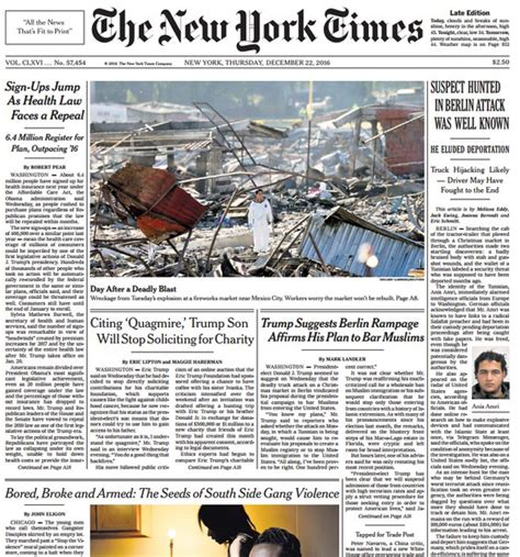 Pdf Free New York Times App by The New York Times 12 22 2016 Pdf Free