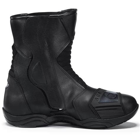 short leather motorcycle boots agrius delta waterproof motorcycle short boots scooter