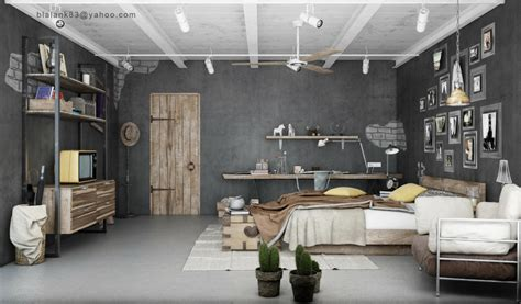 Industrial Design Home Decor by Industrial Bedrooms Interior Design Home Design