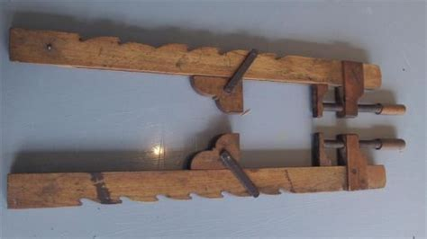 collectable wooden sash clamps crampsantique woodwork