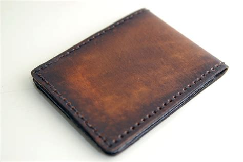 Handmade Mens Leather Wallets - free engraving engraved mens leather wallet slim